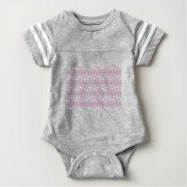 pastel pattern baby bodysuit