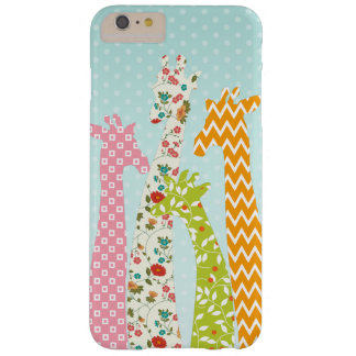 Pastel Pattern Filled 4 Giraffes iPhone 6 Plus Cas Barely There iPhone 6 Plus Case