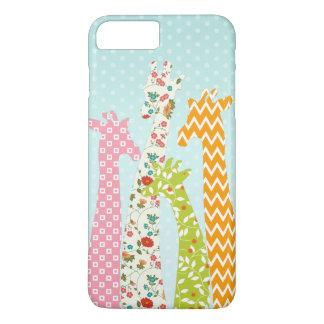 Pastel Pattern Filled 4 Giraffes iPhone 7 Plus iPhone 7 Plus Case