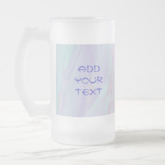 Pastel Pattern Fractal - Sea Shell Style. Frosted Glass Beer Mug
