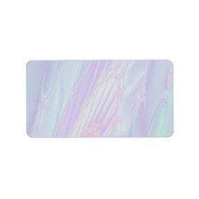 Pastel Pattern Fractal - Sea Shell Style. Custom Address Labels