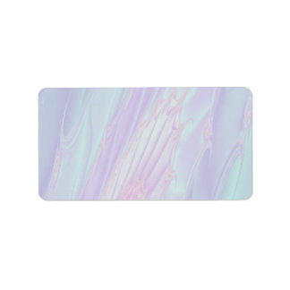 Pastel Pattern Fractal - Sea Shell Style. Label