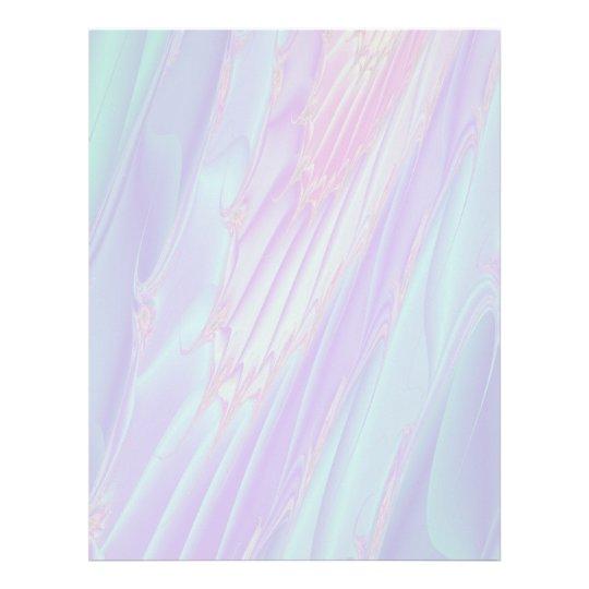 Pastel Pattern Fractal - Sea Shell Style. Letterhead