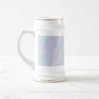 Pastel Pattern Fractal - Sea Shell Style. 18 Oz Beer Stein