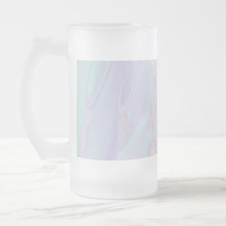 Pastel Pattern Fractal - Sea Shell Style. 16 Oz Frosted Glass Beer Mug
