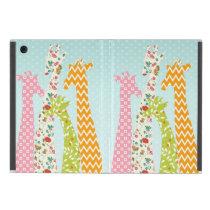 Pastel Pattern Giraffes iPad Mini Case