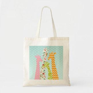 Pastel Pattern Giraffes Tote Bag