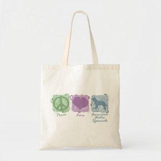 Pastel Peace, Love, and American Water Spaniels Bag