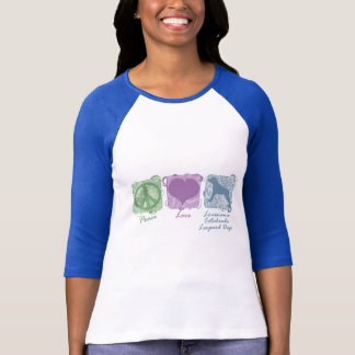 Pastel Peace, Love, and Catahoula Leopard Dogs T-Shirt