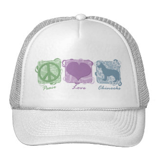 Pastel Peace, Love, and Chinooks Trucker Hat