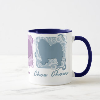 Pastel Peace, Love, and Chow Chows Mug