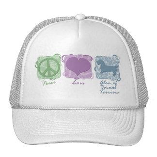 Pastel Peace, Love, and Glen of Imaal Terriers Trucker Hat