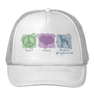 Pastel Peace, Love, and Italian Greyhounds Trucker Hats
