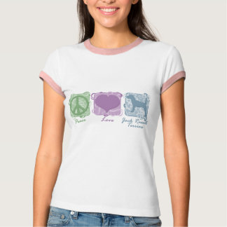 Pastel Peace, Love, and Jack Russell Terriers Shirt