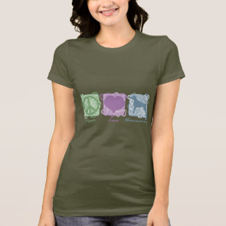 Pastel Peace, Love, and Weimaraners T-Shirt