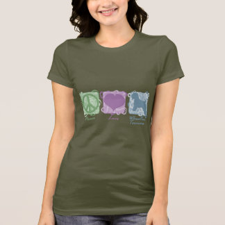 Pastel Peace, Love, and Wheaten Terriers T-Shirt