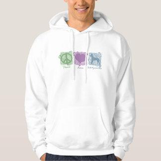 Pastel Peace, Love, and Xoloitzcuintlis Hoodie