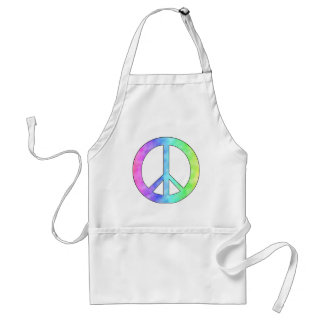 Pastel Peace Sign Adult Apron