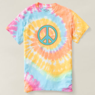 Pastel Peace Sign Tie-Dye T Shirt