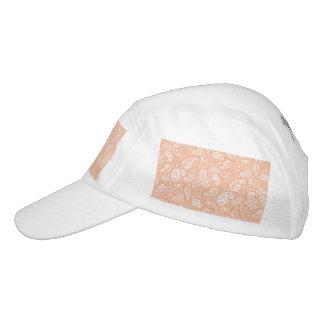 Pastel Peach Paisley Headsweats Hat