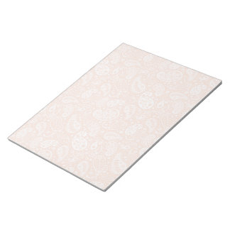 Pastel Peach Paisley Notepad