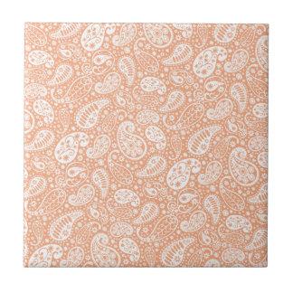 Pastel Peach Paisley Tile
