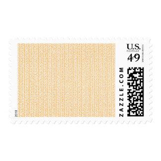 Pastel Peach Weave Pattern Image Postage Stamp