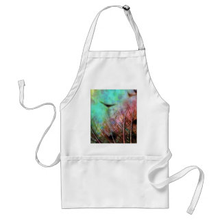 Pastel Peacock Feathers Aprons