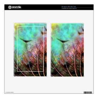 Pastel Peacock Feathers Kindle Fire Kindle Fire Decals