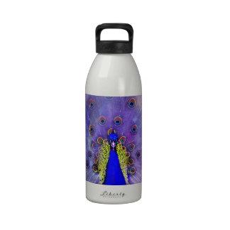 Pastel Peacock Reusable Water Bottle