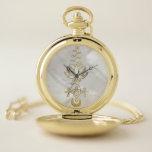 "Pastel Pearl Unalome Lotus Symbol Pocket Watch<br><div class=""desc"">Pastel Pearl Unalome Lotus Symbol</div>"