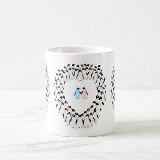 Pastel Penguins heart cup