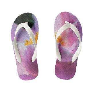 Pastel Peony Children's Flip Flops
