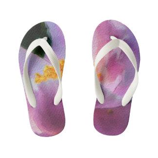 Pastel Peony Child's Flip Flops