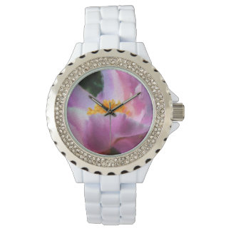 Pastel Peony Rhinestone Watch