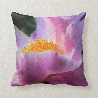 Pastel Peony Square Pillow