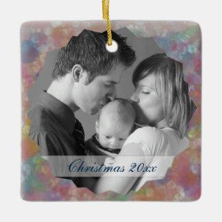 Pastel Photo Frame Ceramic Ornament