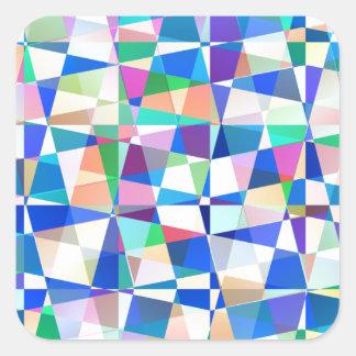 Pastel Pieces Square Sticker