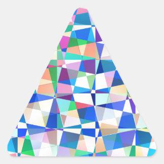 Pastel Pieces Triangle Sticker