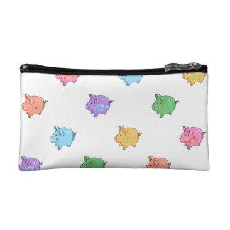 Pastel Pig Pattern Cosmetic Bag