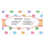 Pastel Pig Pattern Business Cards