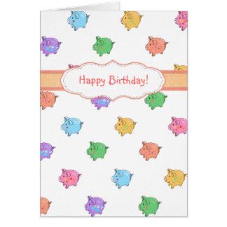 Pastel Pig Pattern Card