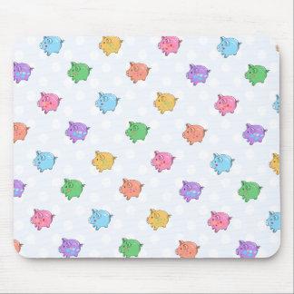 Pastel Pig Pattern Mouse Pad
