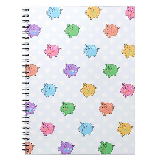 Pastel Pig Pattern Notebook