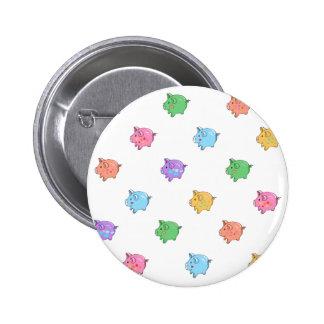 Pastel Pig Pattern Pinback Button