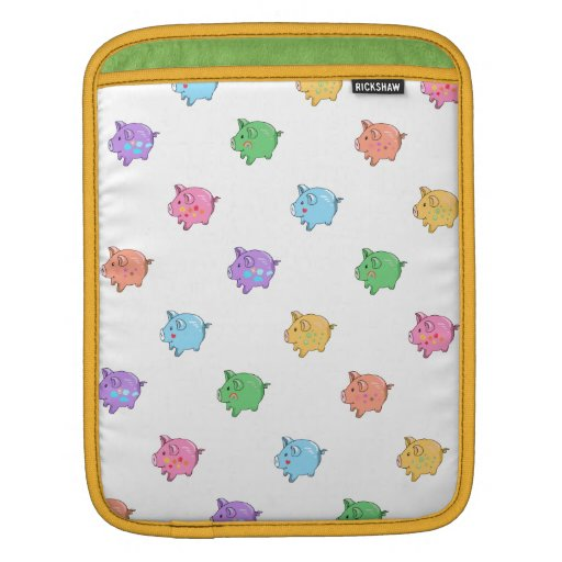 Pastel Pig Pattern Sleeve For iPads