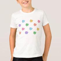 Pastel Pig Pattern T-Shirt