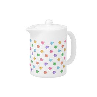 Pastel Pig Pattern Teapot