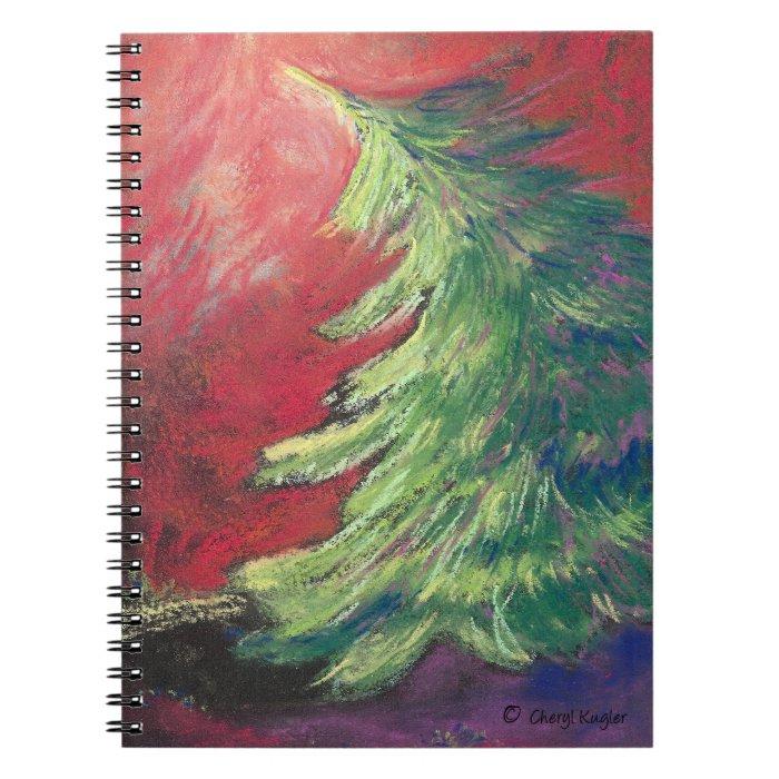 Pastel Pine Tree/Notebook Spiral Notebook
