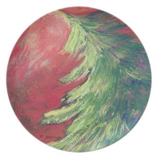 Pastel Pine Tree/Plate Melamine Plate
